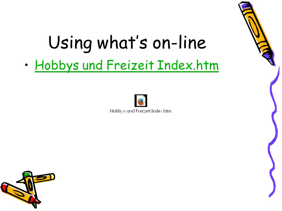 Using whats on-line Hobbys und Freizeit Index.htm