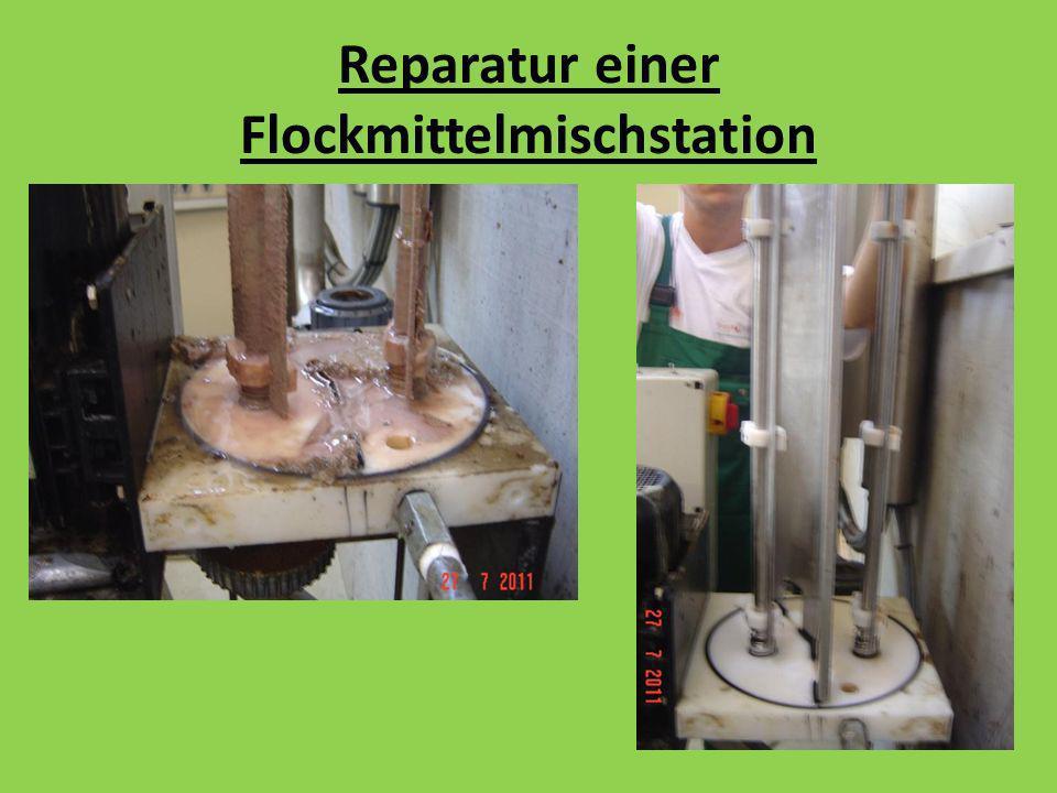 Reparatur einer Flockmittelmischstation