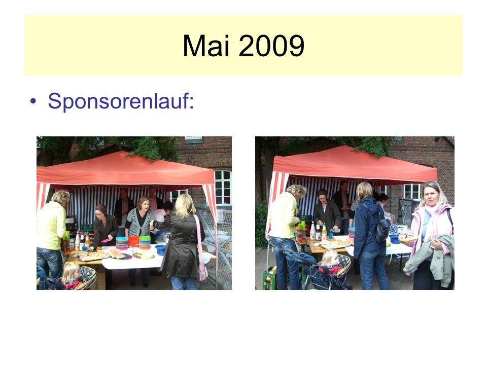 Mai 2009 Sponsorenlauf: