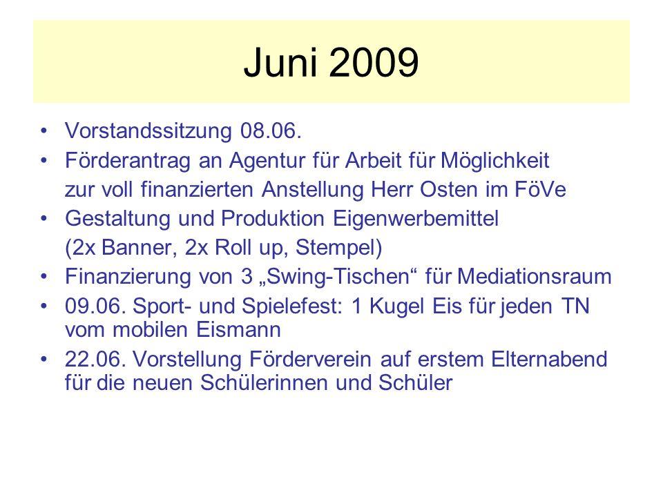 Juni 2009 Vorstandssitzung 08.06.