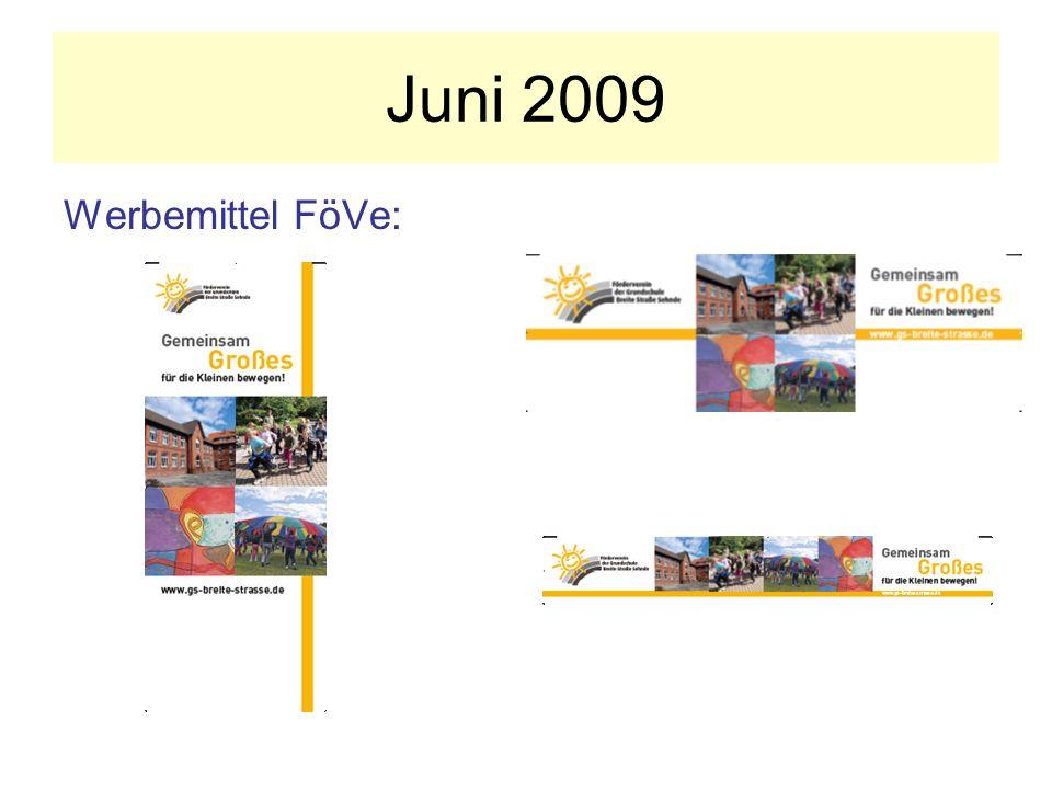 Juni 2009 Werbemittel FöVe: