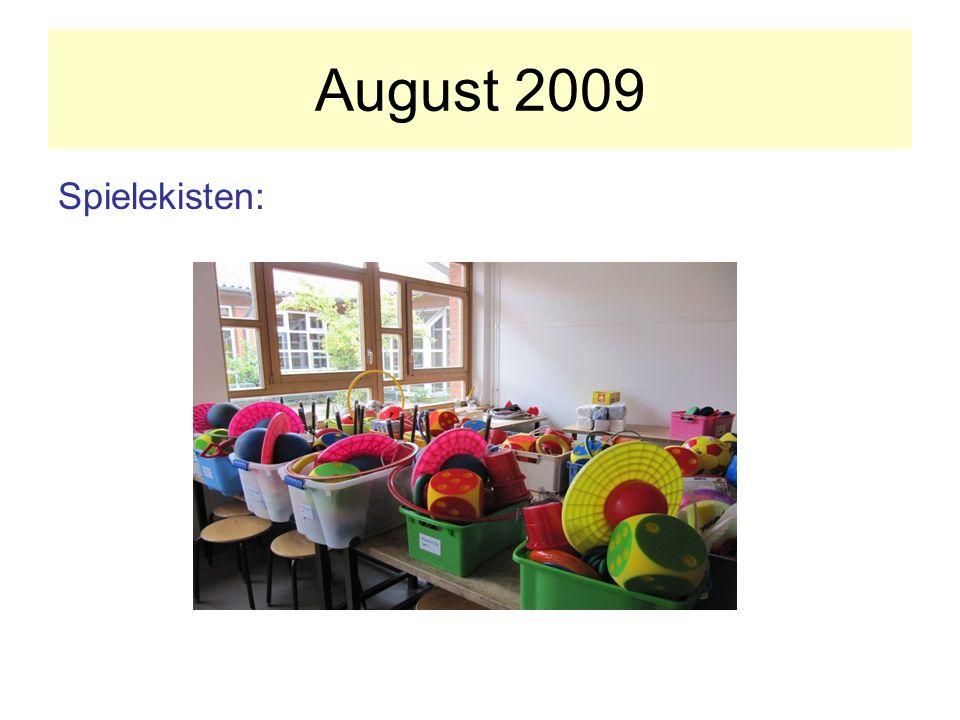 August 2009 Spielekisten: