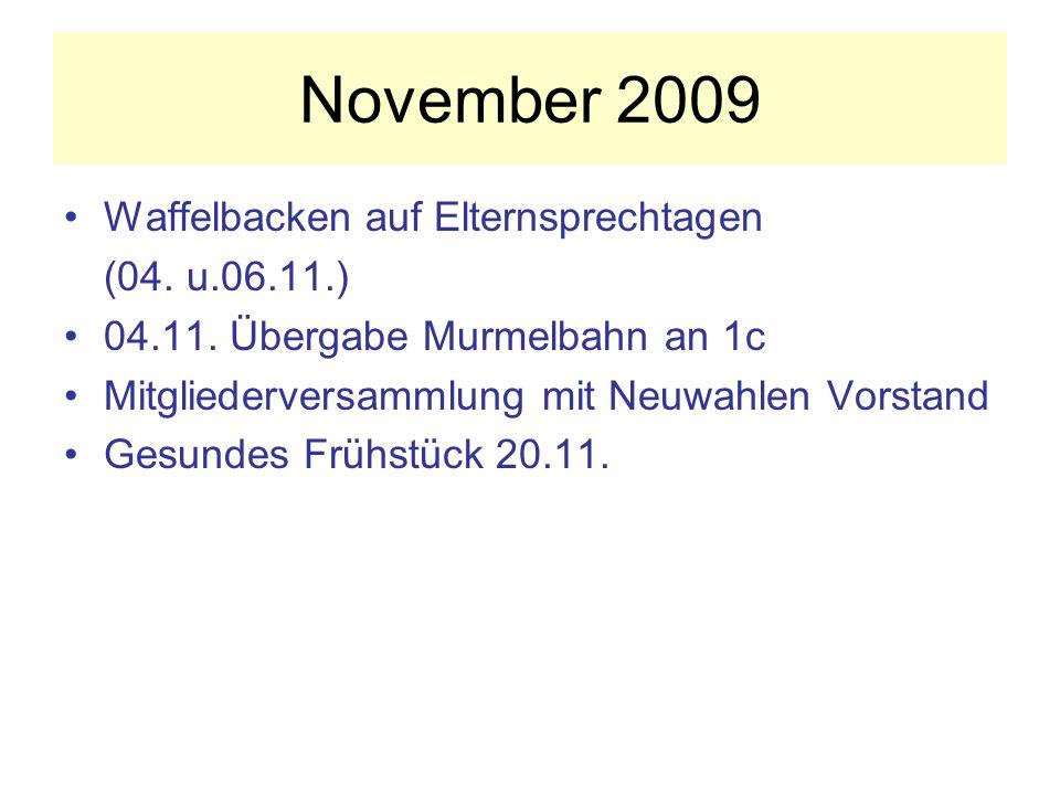 November 2009 Waffelbacken auf Elternsprechtagen (04.