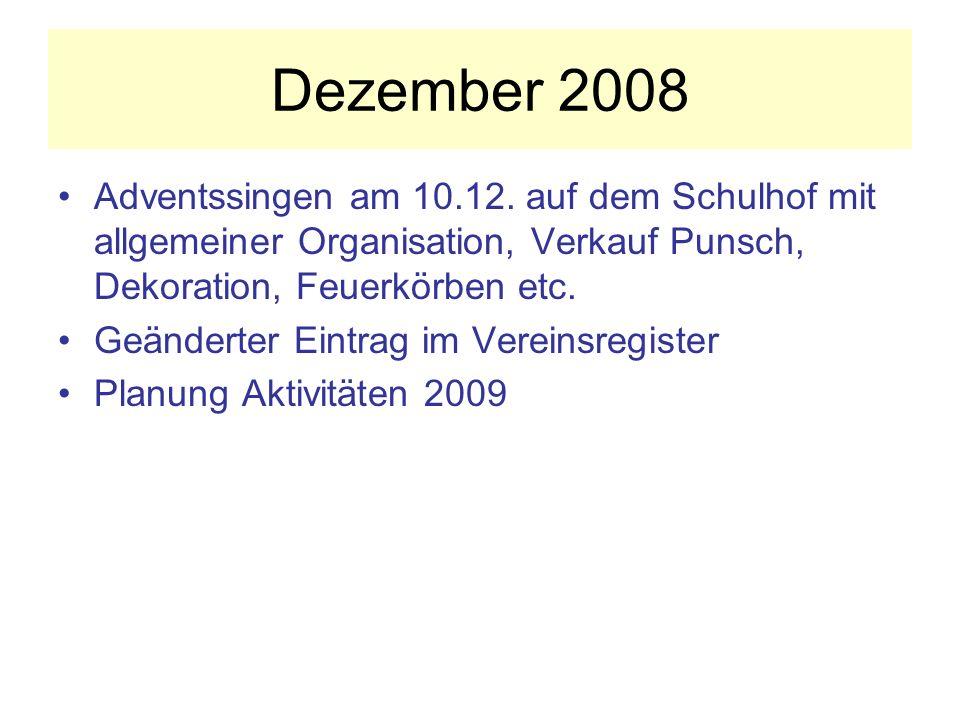 Dezember 2008 Adventssingen am 10.12.