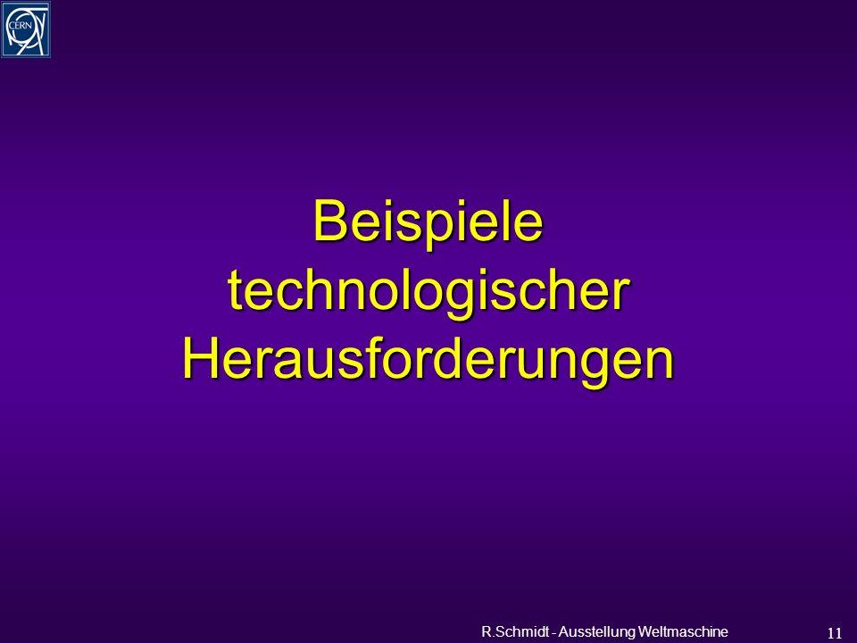 R.Schmidt - Ausstellung Weltmaschine 11 Beispiele technologischer Herausforderungen
