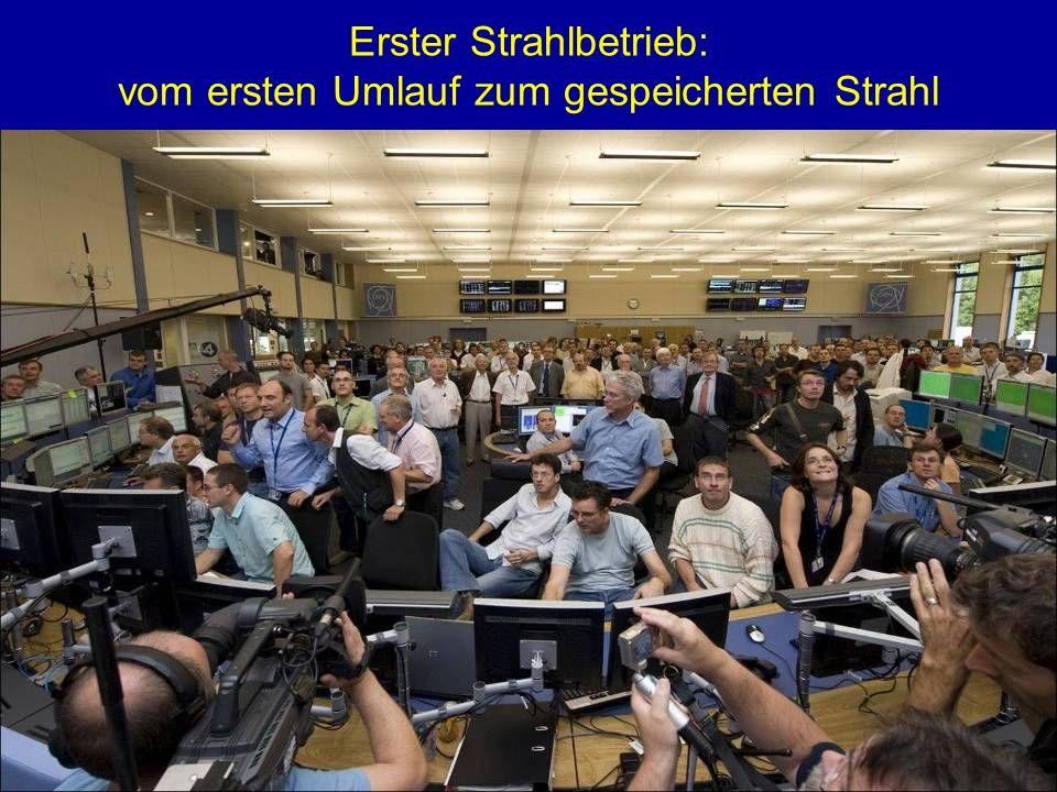 R.Schmidt - Ausstellung Weltmaschine 19 Erster Strahlbetrieb: vom ersten Umlauf zum gespeicherten Strahl