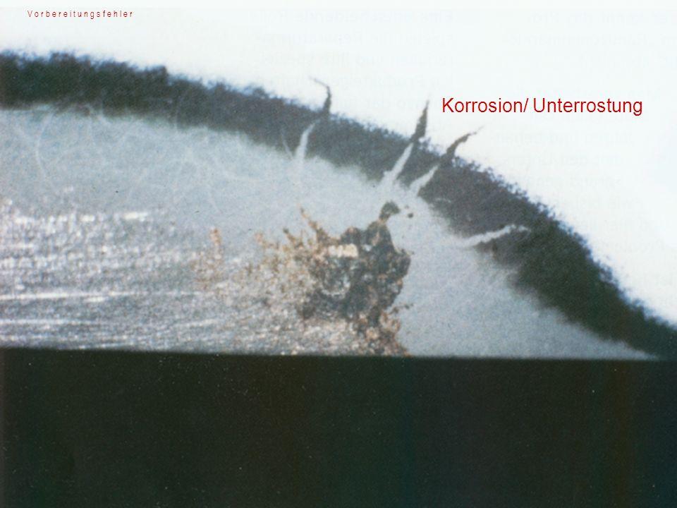 Vermeidung Untergrund mittels Lösemitteltest überprüfen Durchschliffe vermeiden, isolieren Verarbeitungshimweise beachten Erste Schicht etwas verhalten (nicht zu naß) spritzen Beseitigung...