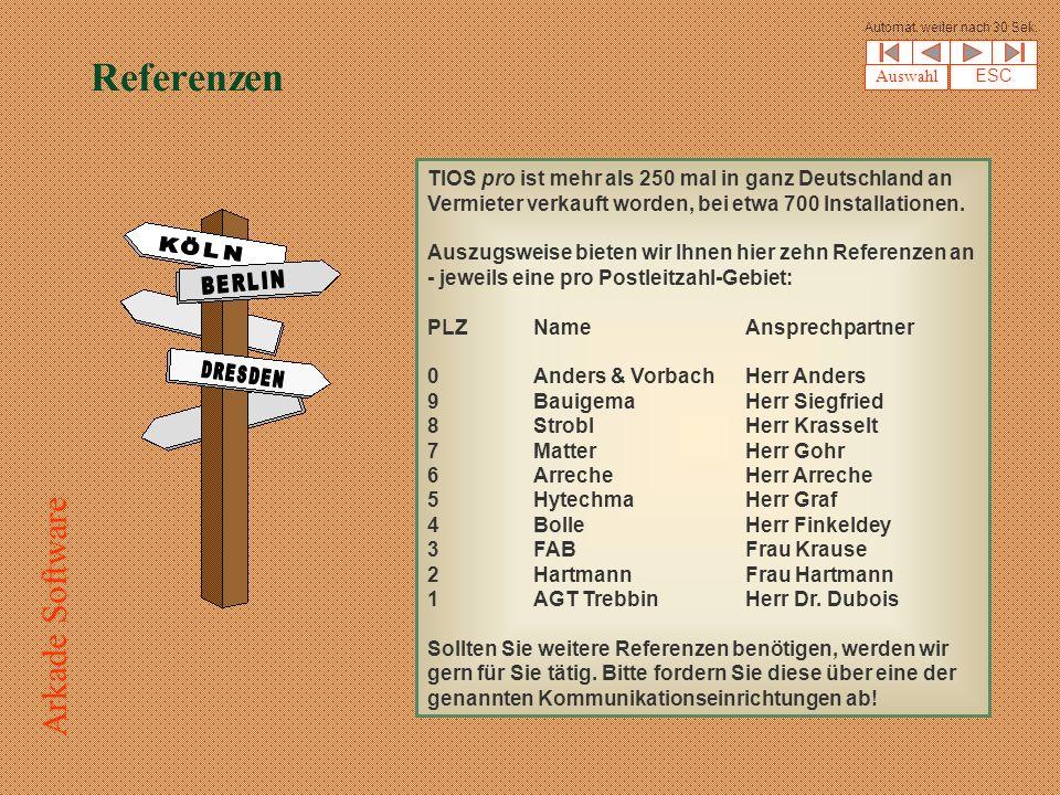Referenzen TIOS pro ist mehr als 250 mal in ganz Deutschland an Vermieter verkauft worden, bei etwa 700 Installationen.
