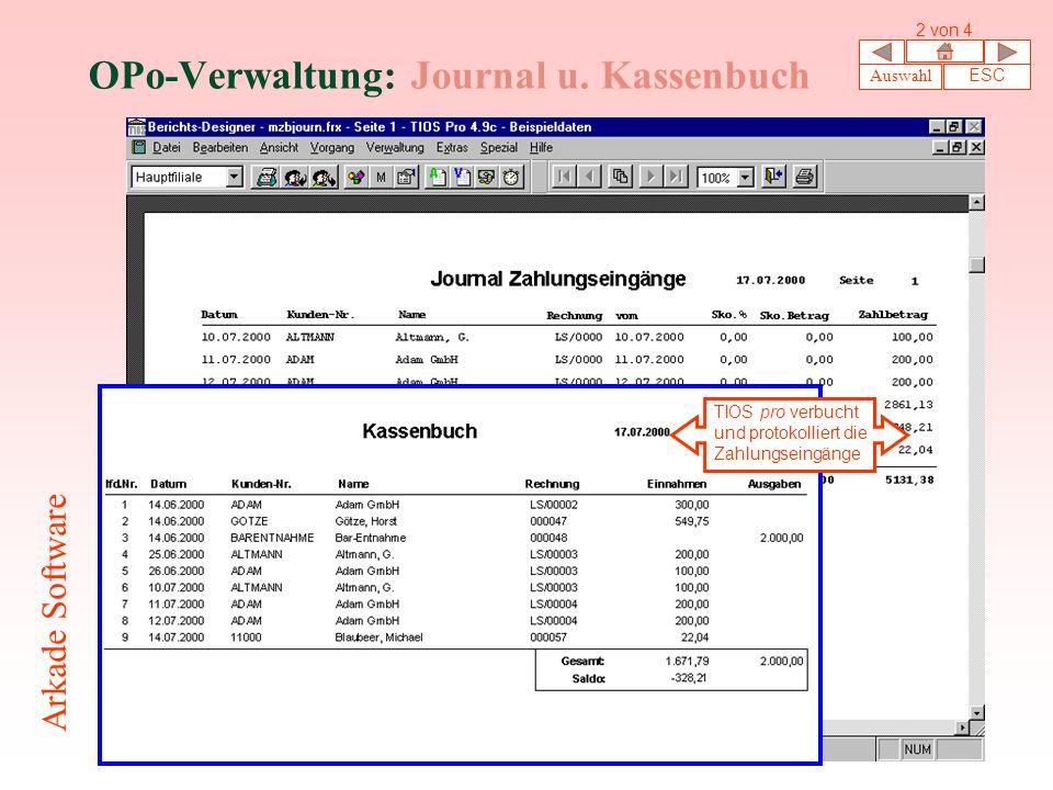 OPo-Verwaltung: Journal u.