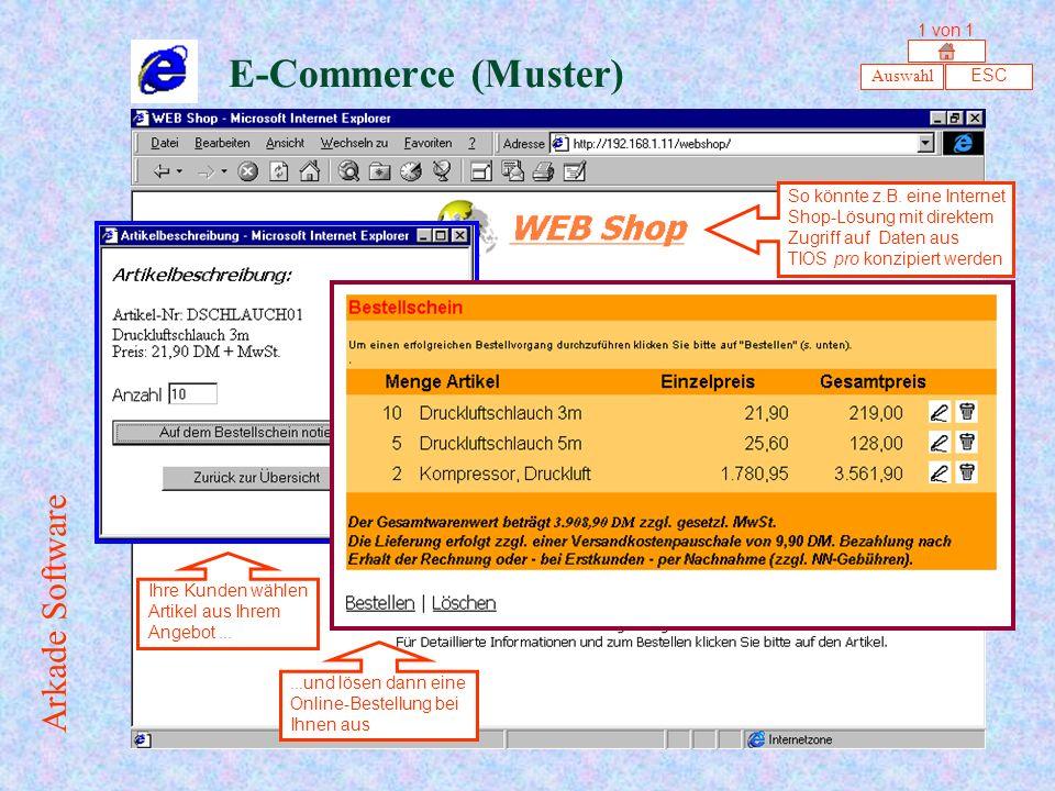 E-Commerce (Muster) Auswahl ESC So könnte z.B.