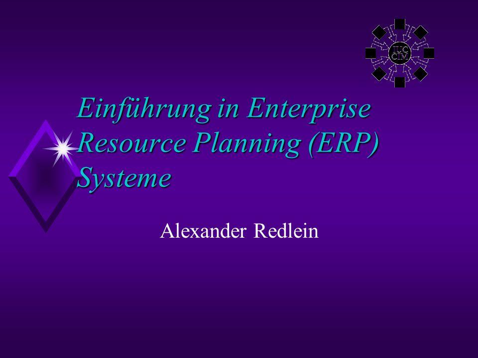 ©AR 2000Alexander Redlein Inhalt u Definition ERP u Basiskonzepte, -technologie u Module u Finanzbuchhaltung und Kostenrechnung u Produktionsplanung u Business Datawarehouse u Materialwirtschaft u Personalwesen