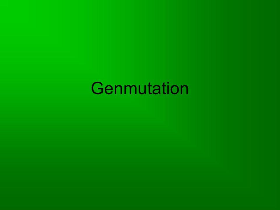 Was ist eine Genmutation.