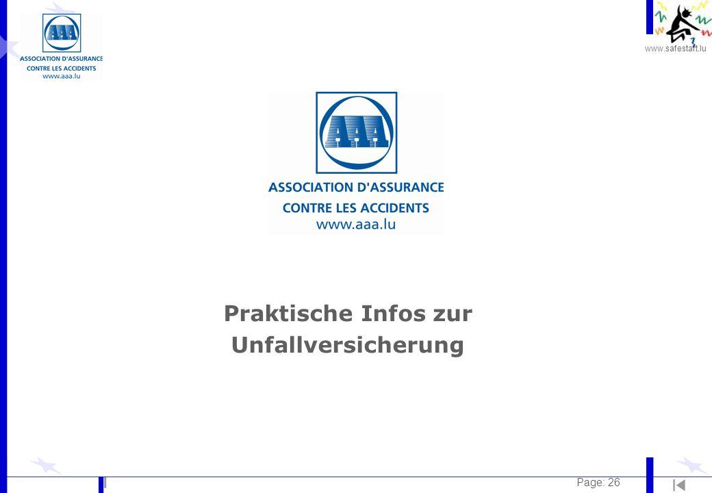 www.safestart.lu Page: 26 Praktische Infos zur Unfallversicherung