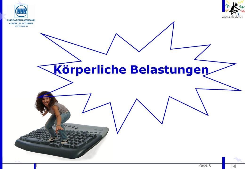 www.safestart.lu Page: 6 Körperliche Belastungen