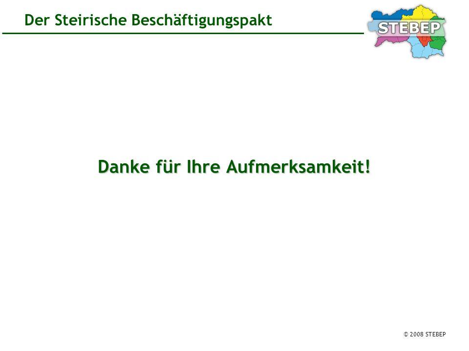 © 2008 STEBEP Der Steirische Beschäftigungspakt Danke für Ihre Aufmerksamkeit!