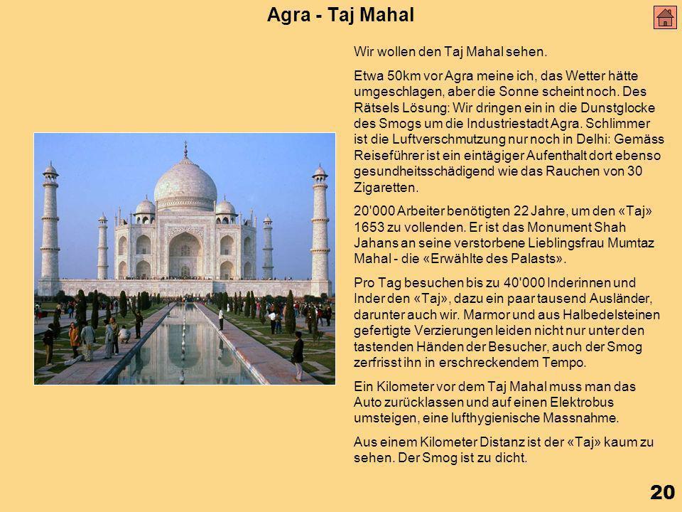 20 Agra - Taj Mahal Wir wollen den Taj Mahal sehen.