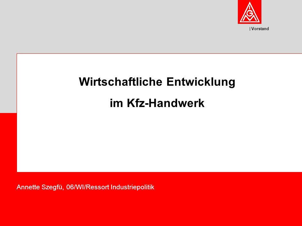 Vorstand Wirtschaftliche Entwicklung im Kfz-Handwerk Annette Szegfü, 06/WI/Ressort Industriepolitik