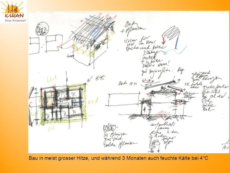 Rotmonten HV 17. 6. 2012 Bau in meist grosser Hitze, und während 3 Monaten auch feuchte Kälte bei 4°C