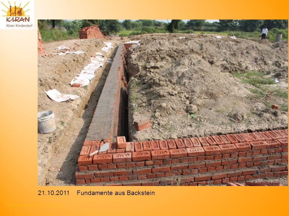Rotmonten HV 17. 6. 2012 21.10.2011 Fundamente aus Backstein