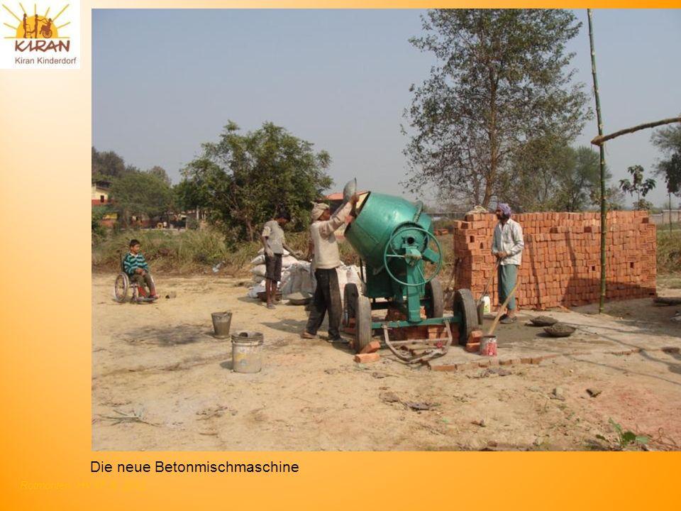Rotmonten HV 17. 6. 2012 Die neue Betonmischmaschine