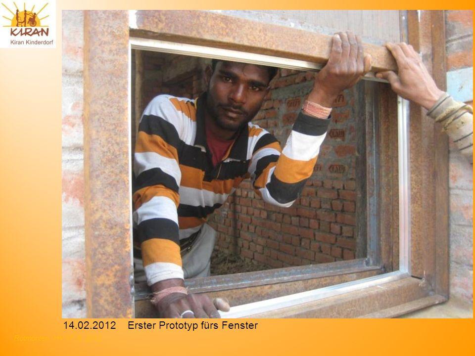 Rotmonten HV 17. 6. 2012 14.02.2012 Erster Prototyp fürs Fenster