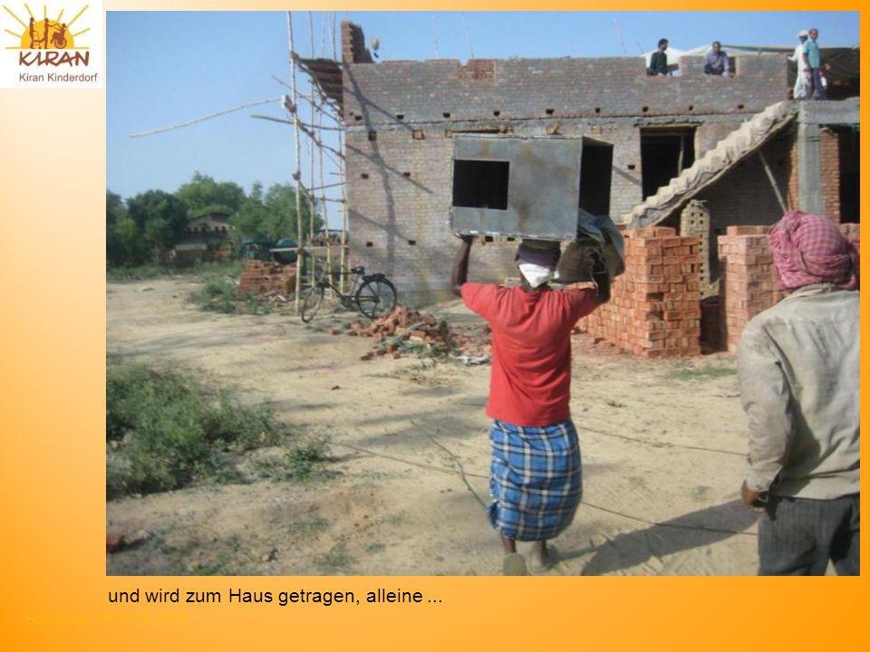 Rotmonten HV 17. 6. 2012 und wird zum Haus getragen, alleine...