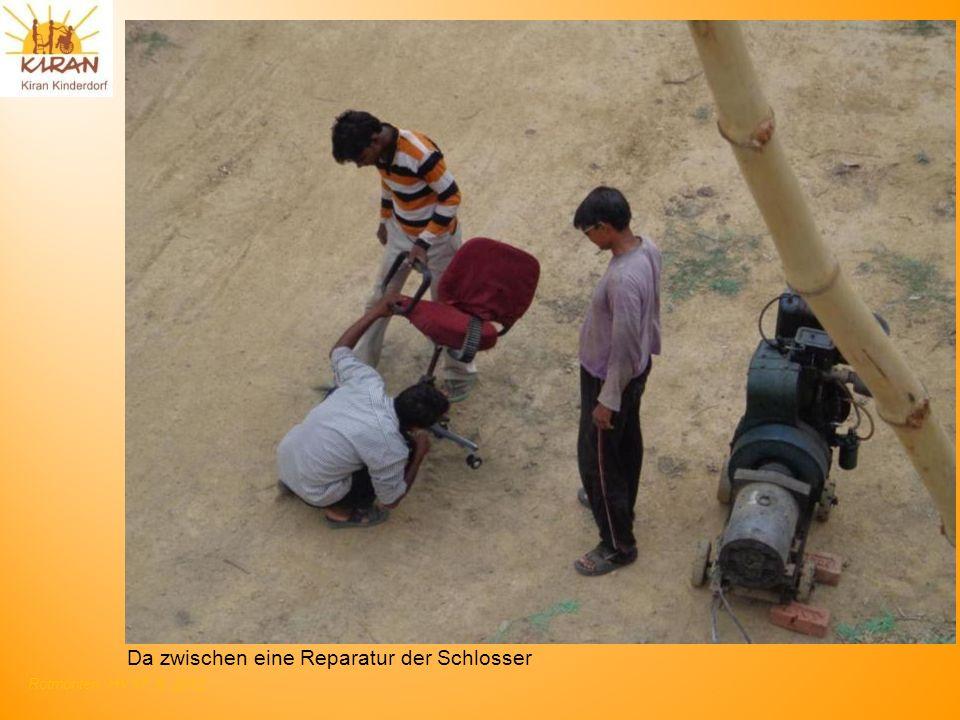 Rotmonten HV 17. 6. 2012 Da zwischen eine Reparatur der Schlosser