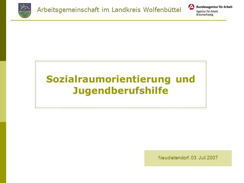 Arbeitsgemeinschaft im Landkreis Wolfenbüttel Sozialraumorientierung und Jugendberufshilfe Neudietendorf, 03.