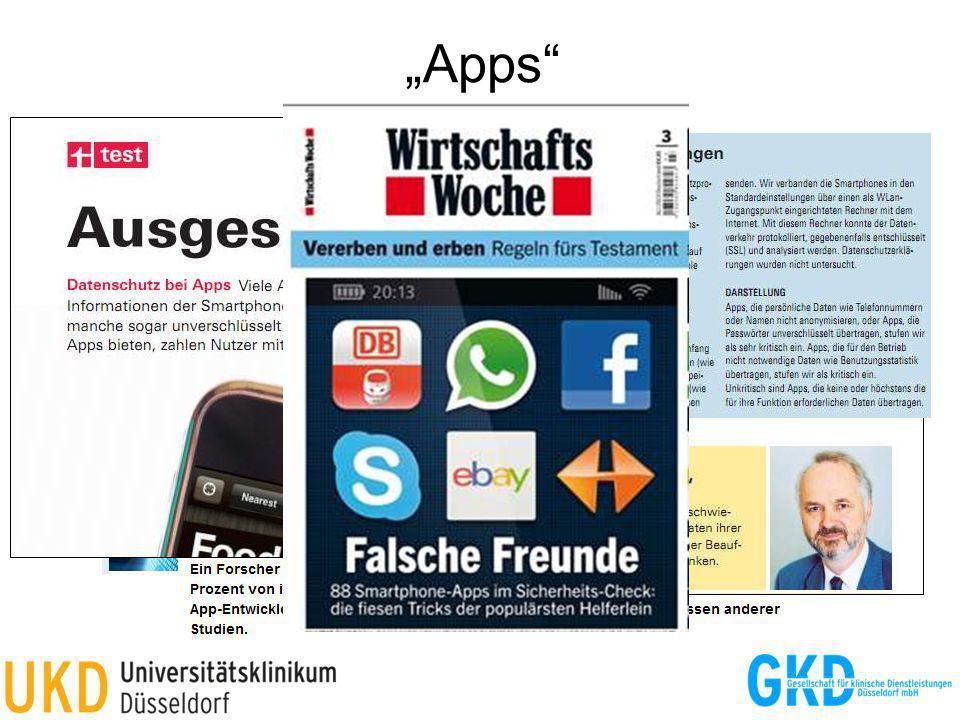 Apps Quelle: Stiftung Warentest, 6/2012