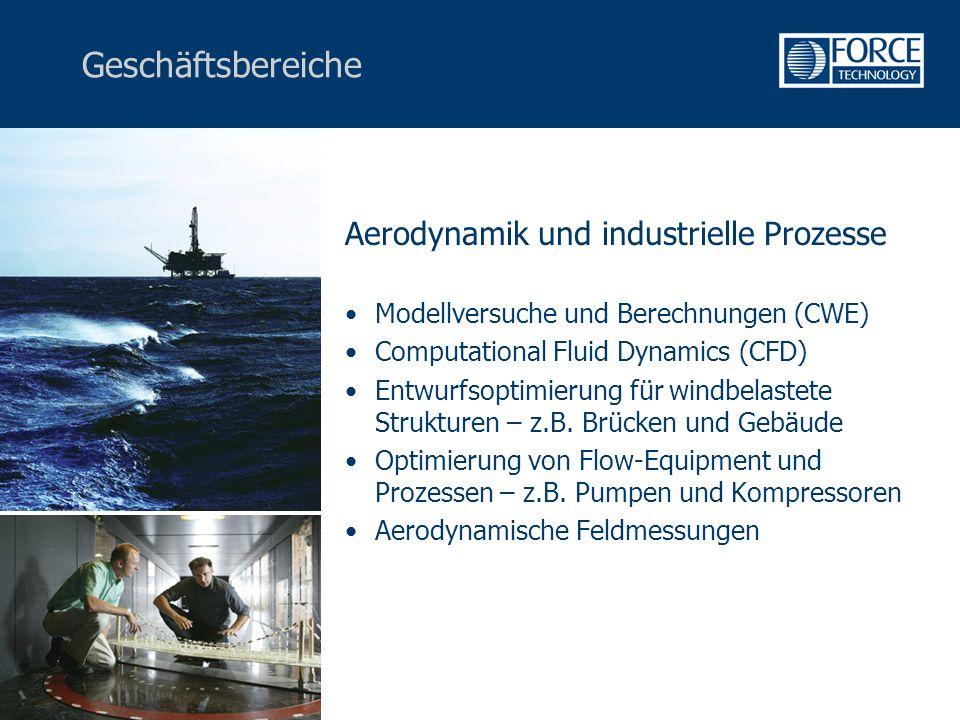 Geschäftsbereiche Aerodynamik und industrielle Prozesse Modellversuche und Berechnungen (CWE) Computational Fluid Dynamics (CFD) Entwurfsoptimierung für windbelastete Strukturen – z.B.