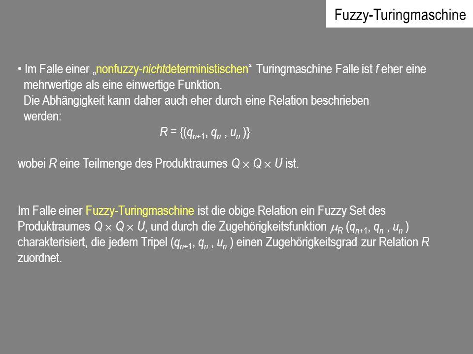 Im Falle einer nonfuzzy- nicht deterministischen Turingmaschine Falle ist f eher eine mehrwertige als eine einwertige Funktion. Die Abhängigkeit kann