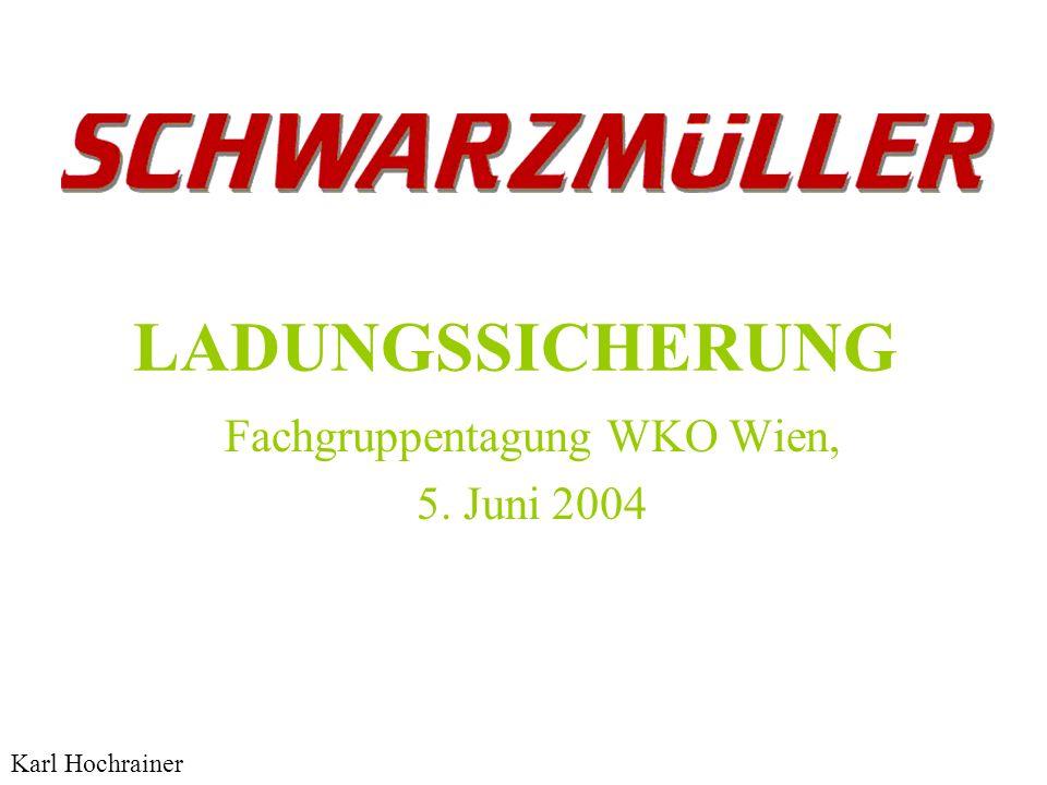 LADUNGSSICHERUNG Fachgruppentagung WKO Wien, 5. Juni 2004 Karl Hochrainer