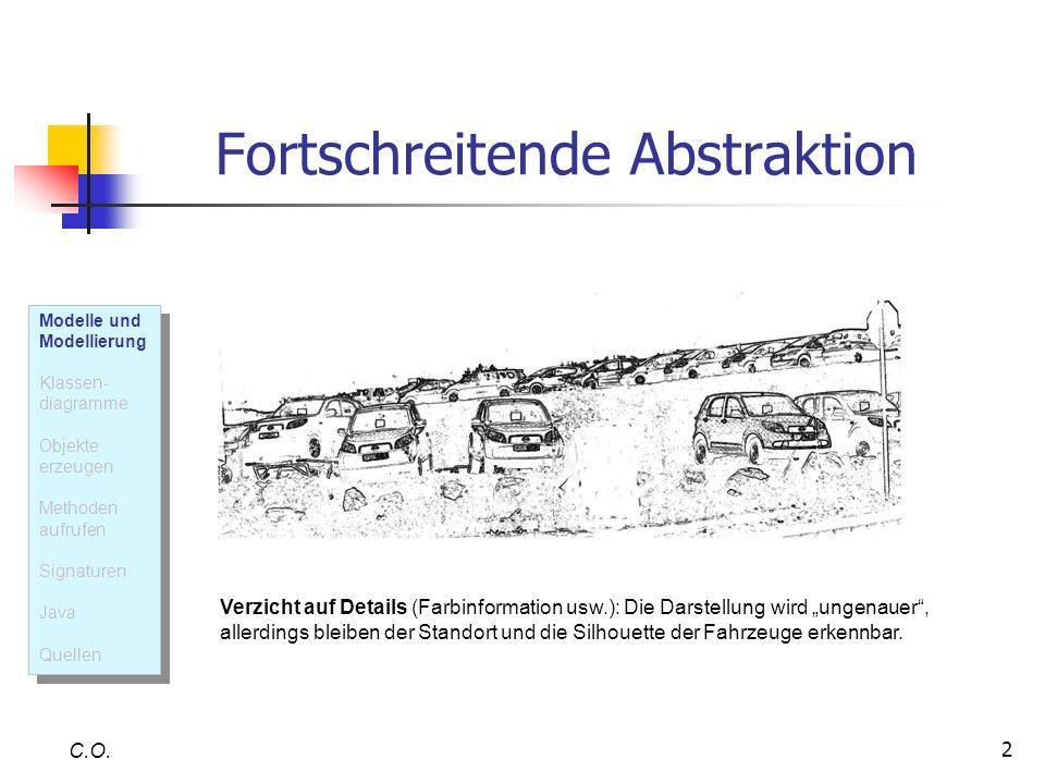 2 Fortschreitende Abstraktion C.O. Verzicht auf Details (Farbinformation usw.): Die Darstellung wird ungenauer, allerdings bleiben der Standort und di