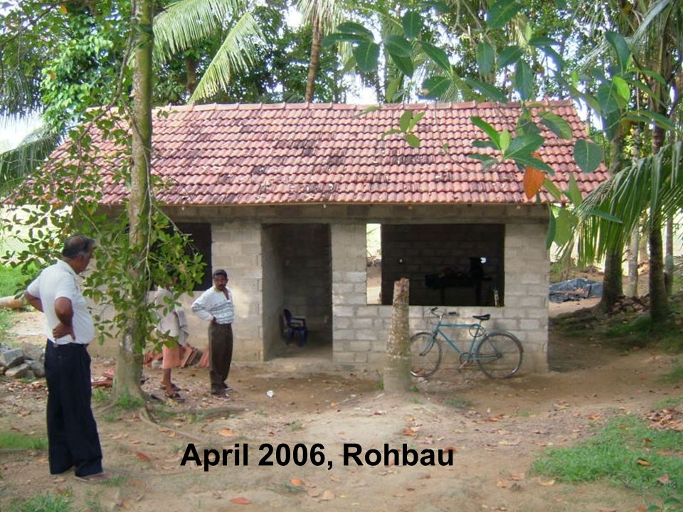 April 2006, Rohbau