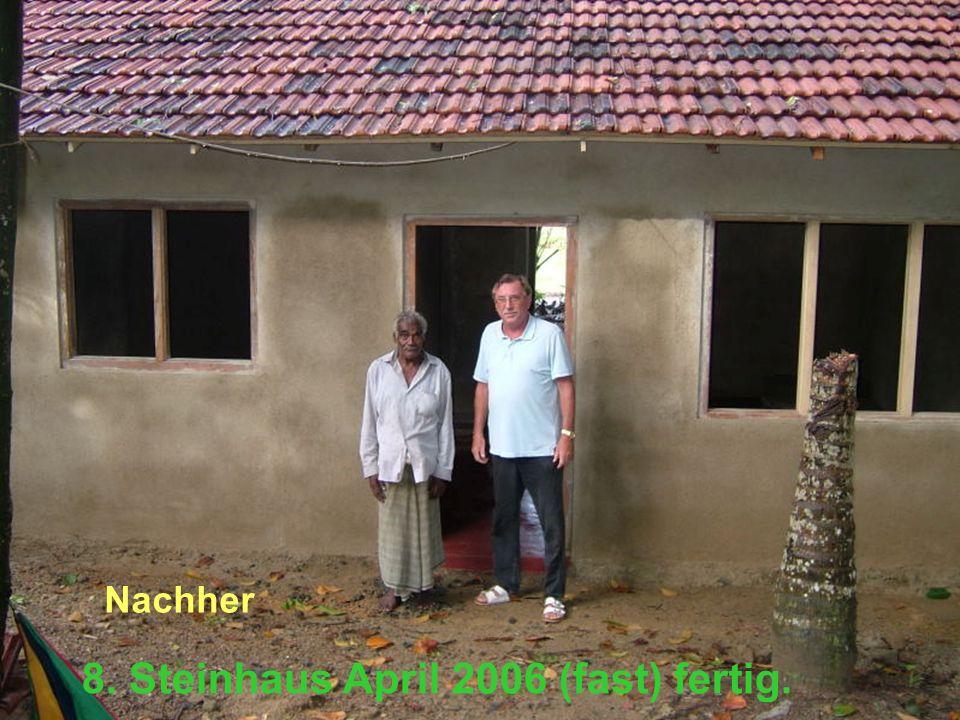 8. Steinhaus April 2006 (fast) fertig. Nachher