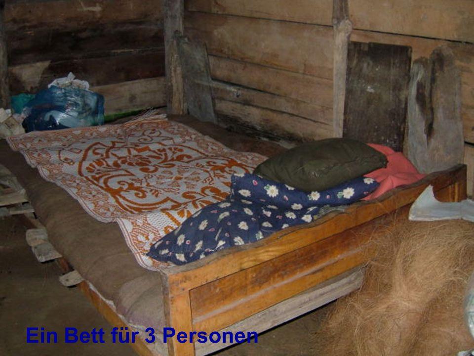 Ein Bett für 3 Personen