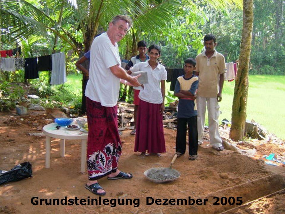 Grundsteinlegung Dezember 2005