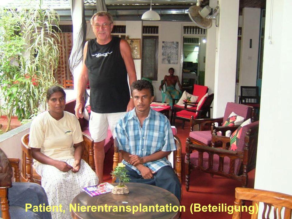 Patient, Nierentransplantation (Beteiligung)