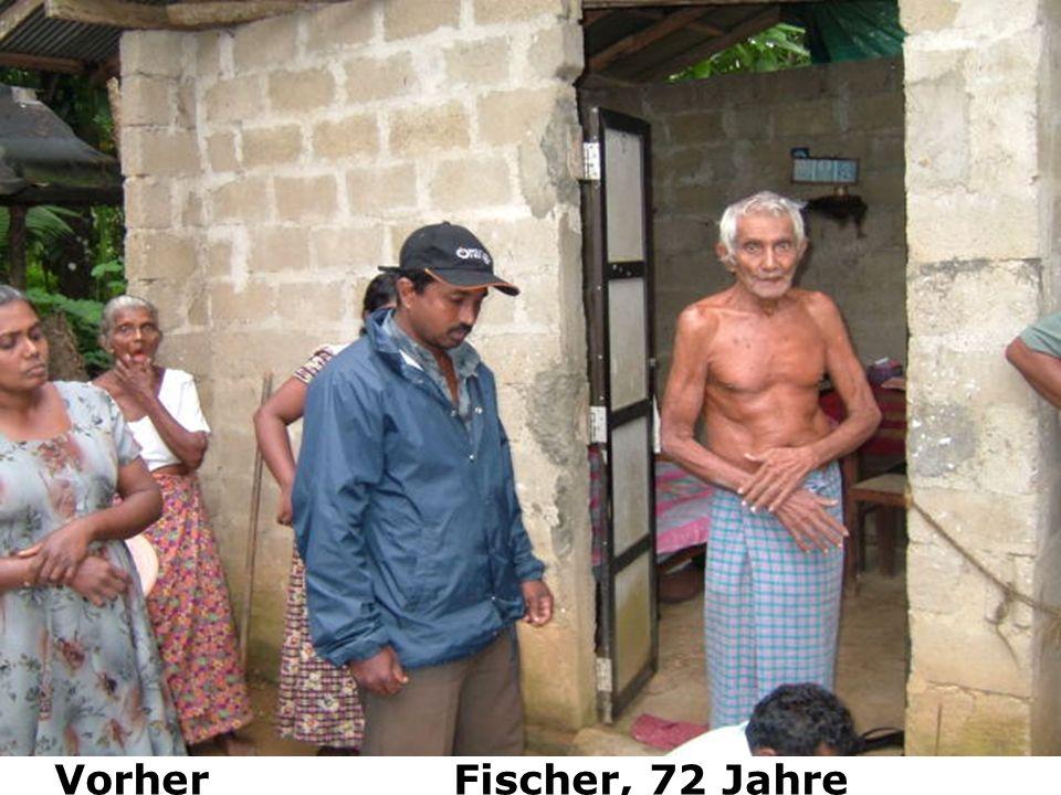 Vorher Fischer, 72 Jahre