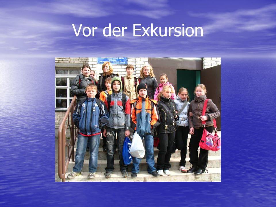 Vor der Exkursion