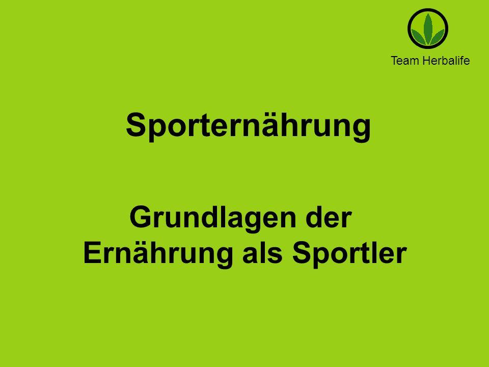 Team Herbalife Sporternährung Grundlagen der Ernährung als Sportler