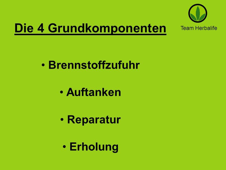 Team Herbalife Die 4 Grundkomponenten Brennstoffzufuhr Auftanken Reparatur Erholung