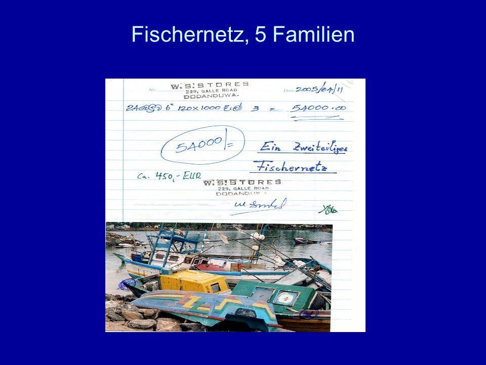 Fischernetz, 5 Familien