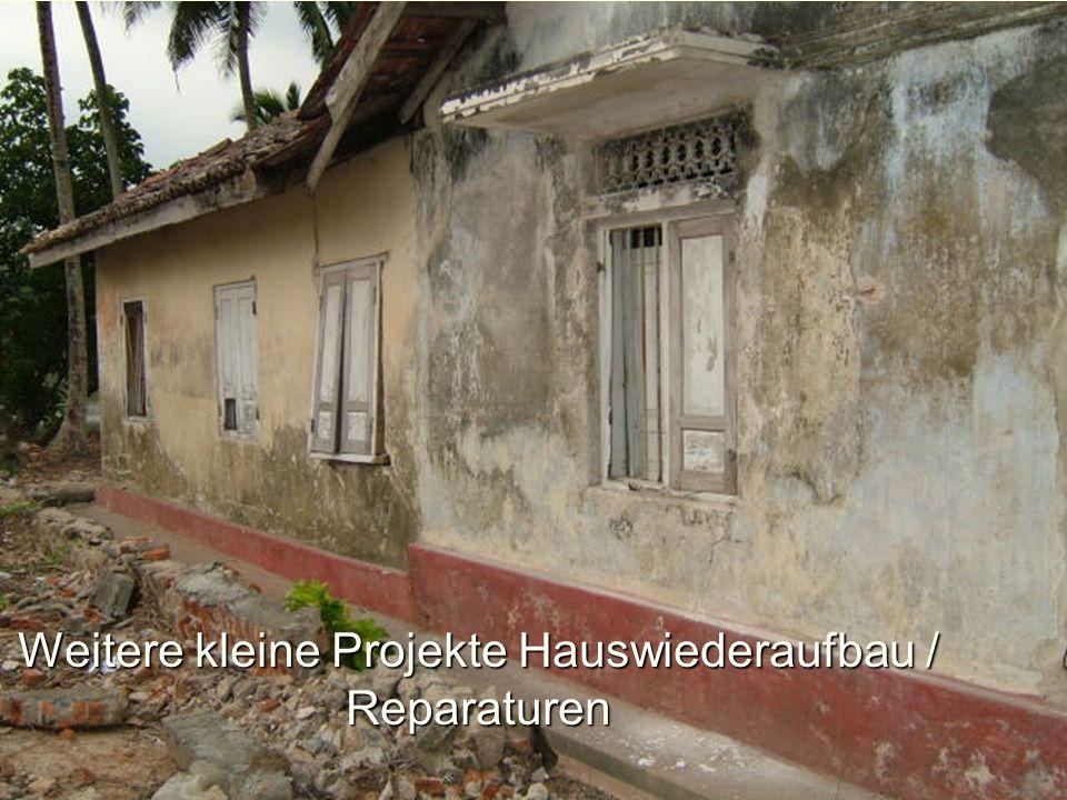 Weitere kleine Projekte Hauswiederaufbau / Reparaturen