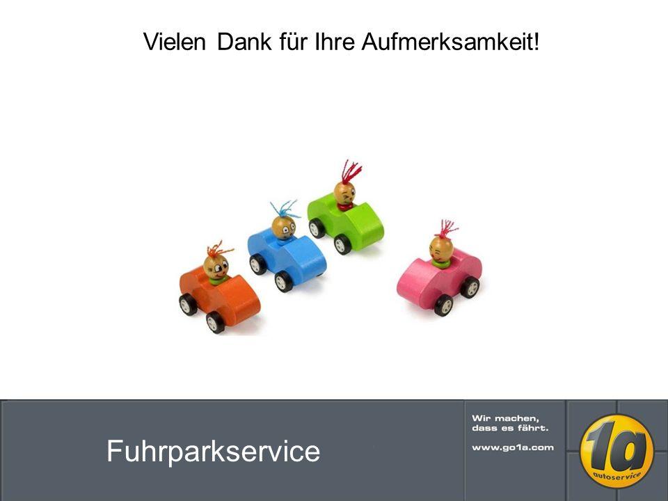 Vielen Dank für Ihre Aufmerksamkeit! Fuhrparkservice