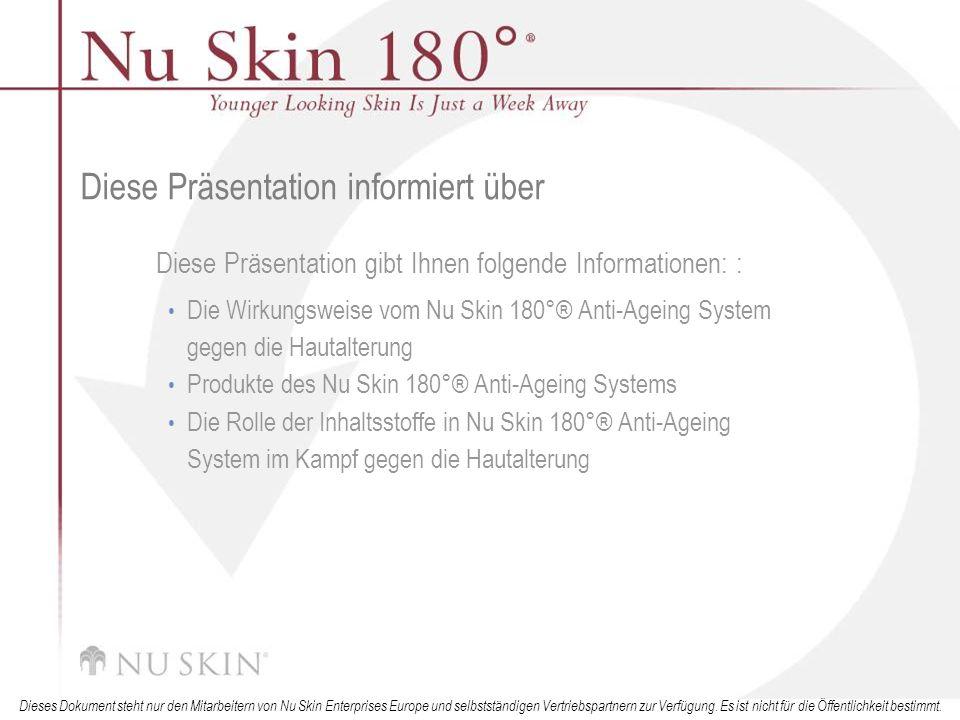 © 2001 Nu Skin International, Inc Dieses Dokument steht nur den Mitarbeitern von Nu Skin Enterprises Europe und selbstständigen Vertriebspartnern zur Verfügung.