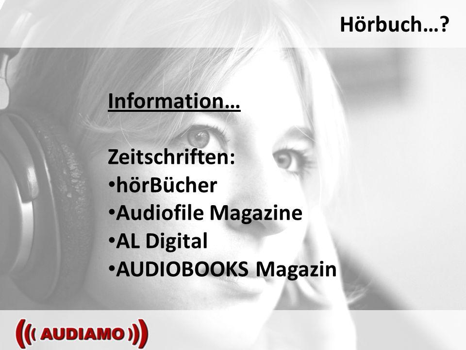 Hörbuch… Information… Zeitschriften: hörBücher Audiofile Magazine AL Digital AUDIOBOOKS Magazin