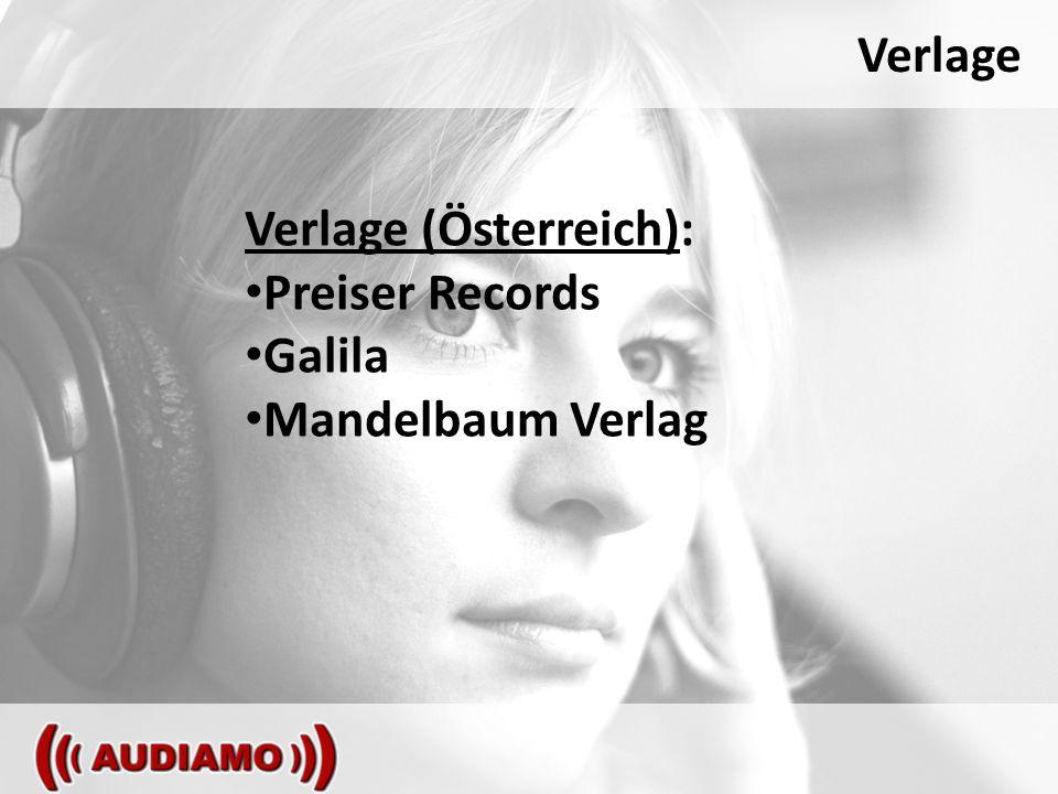 Verlage Verlage (Österreich): Preiser Records Galila Mandelbaum Verlag