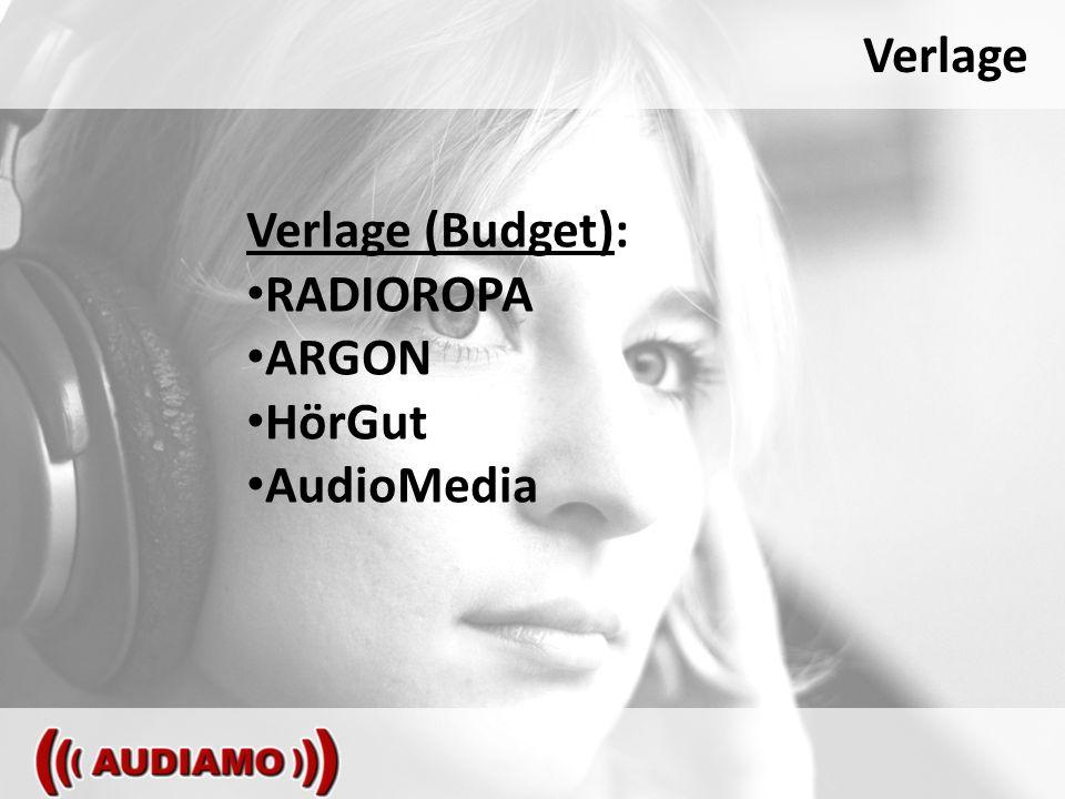 Verlage Verlage (Budget): RADIOROPA ARGON HörGut AudioMedia