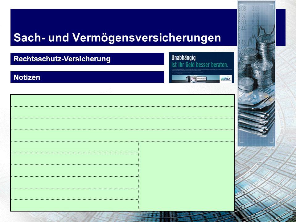 Sach- und Vermögensversicherungen Rechtsschutz-Versicherung Empfohlene Gesellschaft! - Rabat für Personen bis Alter 25 - Leistungen